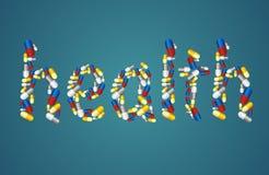 Концепция здравоохранения - пилюльки Стоковое Изображение
