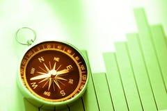 Концепция диаграммы с компасом и стрелкой Стоковое Изображение