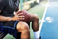 Концепция игрока искусства лиги спорта шарика спортсмена баскетбола Стоковая Фотография RF