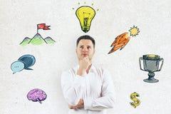 Концепция идеи и руководства Стоковые Изображения