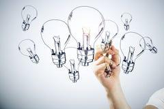 Концепция идеи, нововведения и достижения стоковое изображение rf
