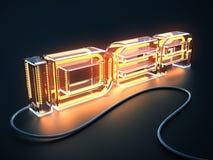 Концепция ИДЕИ текста сделанной как электрическая лампа Стоковые Фото