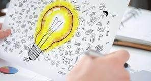 Концепция идей на бумаге Стоковое Фото