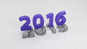 Концепция изменения 2016 Новых Годов иллюстрация штока