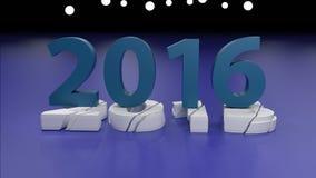 Концепция изменения 2016 Новых Годов бесплатная иллюстрация