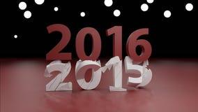 Концепция изменения 2016 Новых Годов иллюстрация вектора