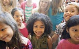 Концепция изменения ребеят школьного возраста жизнерадостная Стоковые Изображения