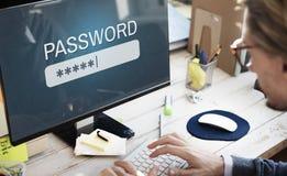 Концепция имени пользователя интернета брандмауэра доступа пароля частная Стоковая Фотография RF