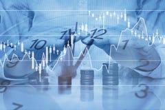 Концепция инвестиционной защиты, столица денег роста, креня Стоковое фото RF