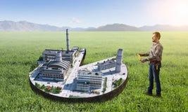 Концепция индустриального строительства Мультимедиа Стоковое Фото