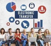 Концепция интернета данным по банка электронного перехода Стоковые Изображения
