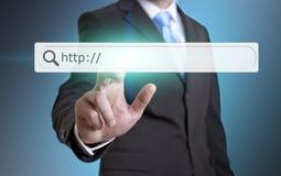 Концепция интернета бизнесмена Стоковые Фотографии RF