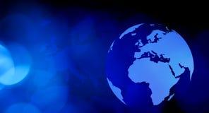 Концепция интернета земли глобальная Стоковое Изображение