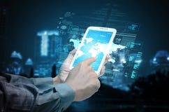 Концепция интернета и информационной технологии стоковая фотография rf
