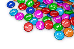 Концепция интернета доменного имени Стоковое Изображение