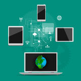 Концепция интернета, социальной сети Стоковое Изображение