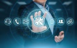 Концепция интернета технологии дела обслуживания клиента службы технической поддержки стоковое изображение