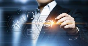 Концепция интернета технологии дела обслуживания клиента службы технической поддержки стоковая фотография