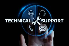 Концепция интернета технологии дела обслуживания клиента службы технической поддержки стоковое фото