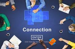 Концепция интернет-страницы вебсайта интернета соединения онлайн Стоковые Изображения