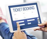 Концепция интерфейса ресервирования билета кино онлайн Стоковые Изображения RF