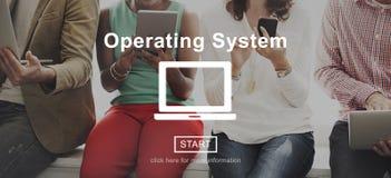Концепция интерфейса соединения доступа операционной системы стоковое изображение rf