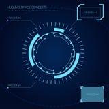 Концепция интерфейса HUD Стоковые Изображения RF