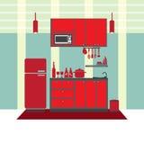 Концепция интерьера кухни Стоковое фото RF