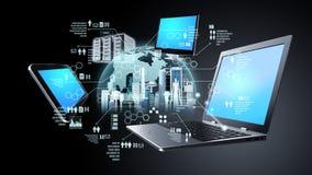 Концепция информационной технологии информации в интернете бесплатная иллюстрация
