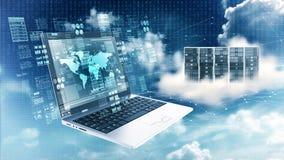 Концепция информационной технологии информации в интернете стоковое фото