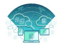 Концепция информационной технологии плоская Стоковая Фотография RF