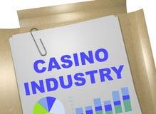 Концепция индустрии казино иллюстрация штока