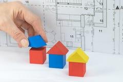 Концепция ипотеки и конструкции Стоковое Изображение RF