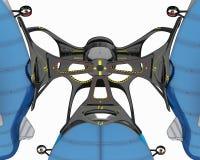 Концепция дирижабля для многофункциональной пользы Иллюстрация дизайн-проекта 3D Бесплатная Иллюстрация