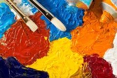 Концепция искусства с краской щетки и масла стоковое фото