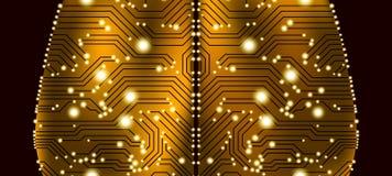 Концепция искусственного интеллекта и разума кибер иллюстрация вектора