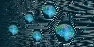 Концепция искусственного интеллекта иллюстрация штока