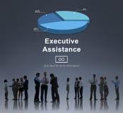 Концепция исполнительной сети корпоративного бизнеса помощи онлайн Стоковые Фотографии RF