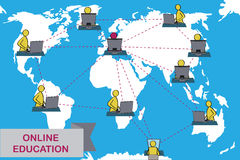 Концепция дистанционного обучения и обучения по Интернетуу Стоковое Фото
