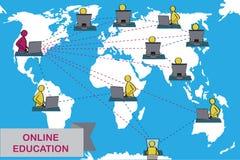 Концепция дистанционного обучения и обучения по Интернетуу Стоковое Изображение