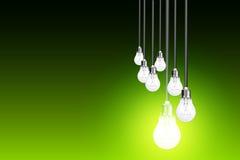 Концепция идеи на зеленом цвете Стоковые Изображения