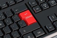 Концепция идеи на красной концепции клавиатуры компьютера Стоковые Изображения RF