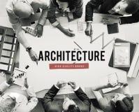 Концепция идеи планирования плана строительства архитектуры Стоковые Изображения