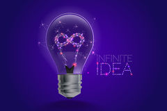 Концепция идей лампочки свет и линия движение Стоковые Фото