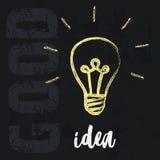 Концепция идей лампочки иллюстрация вектора