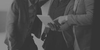 Концепция идей обсуждения пролома корпоративной команды вскользь Стоковая Фотография RF