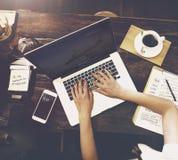 Концепция идей планирования бизнес-леди работая Стоковые Фотографии RF