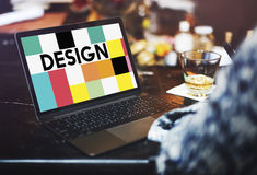 Концепция иллюстрации графического дизайна творческая визуальная стоковая фотография rf