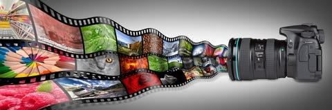 Концепция камеры Dslr иллюстрация штока