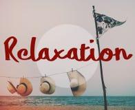 Концепция каникул спокойного chill мира релаксации отдыхая Стоковое Изображение RF